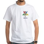 OES Aries Sign White T-Shirt