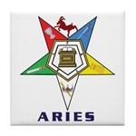 OES Aries Sign Tile Coaster