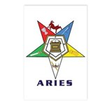OES Aries Sign Postcards (Package of 8)