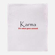 Karma1 Throw Blanket
