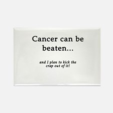 Cancer Can Be Beaten Rectangle Magnet