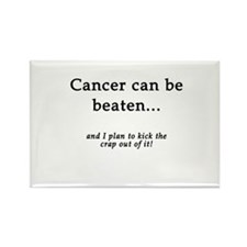 Cancer Can Be Beaten Rectangle Magnet (100 pack)