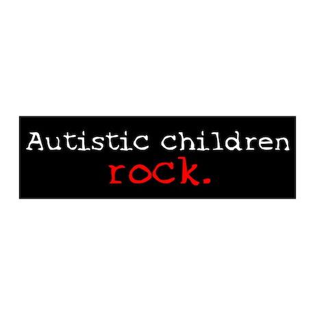 Autistic Children Rock 20x6 Wall Peel