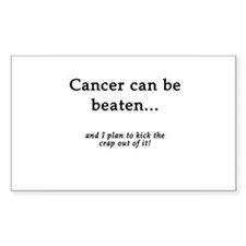 Cancer Can Be Beaten Rectangle Decal