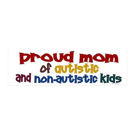 Proud Mom (Autistic & NonAutistic) Sticker (Bumper