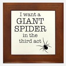 Giant Spider Framed Tile