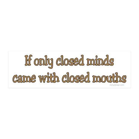 Closed Minds 20x6 Wall Peel