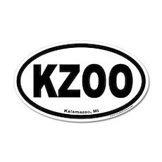 Kalamazoo Michigan KZOO Euro 20x12 Oval Wall Peel