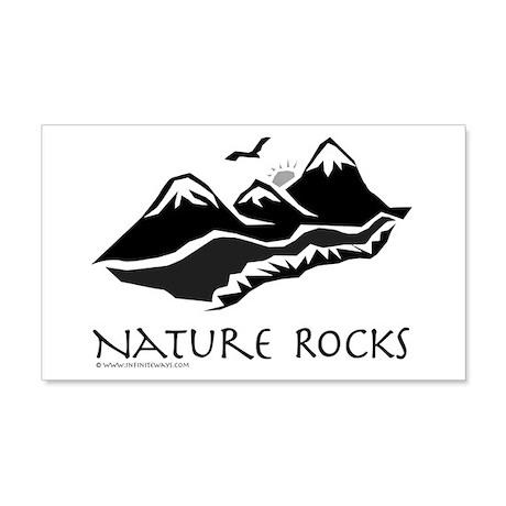 Nature Rocks Mountains 20x12 Wall Peel
