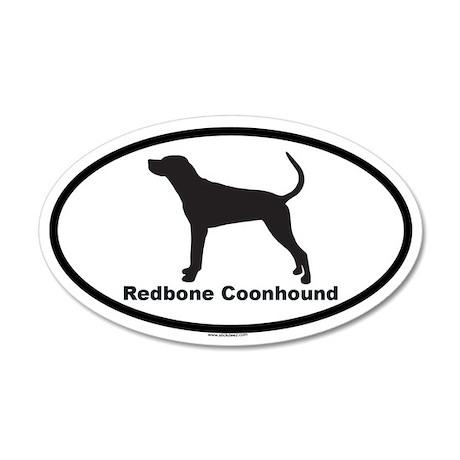 REDBONE COONHOUND 20x12 Oval Wall Peel