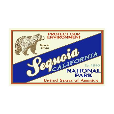 Sequoia (Black Bear) 35x21 Wall Peel
