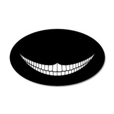 Cheshire Grin 20x12 Oval Wall Peel