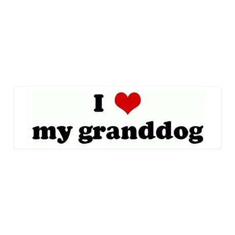 I Love my granddog 20x6 Wall Peel