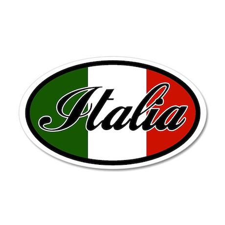 Italia 35x21 Oval Wall Peel