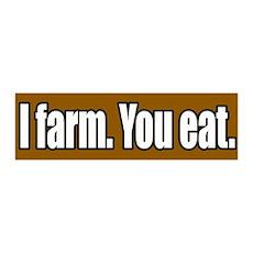 I Farm You Eat 36x11 Wall Peel