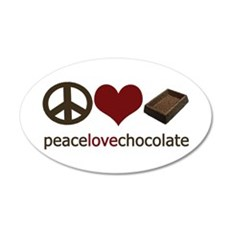 Chocolate Lover 20x12 Oval Wall Peel