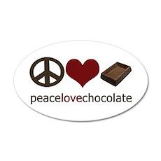 Chocolate Lover 35x21 Oval Wall Peel