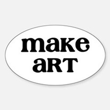 Make Art Sticker (Oval)