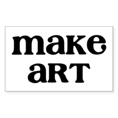 Make Art Sticker (Rectangle)