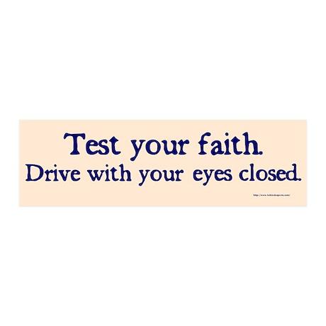 Test Your Faith 20x6 Wall Peel