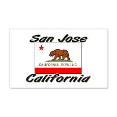 San Jose California 20x12 Wall Peel