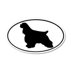 Cocker Spaniel 20x12 Oval Wall Peel