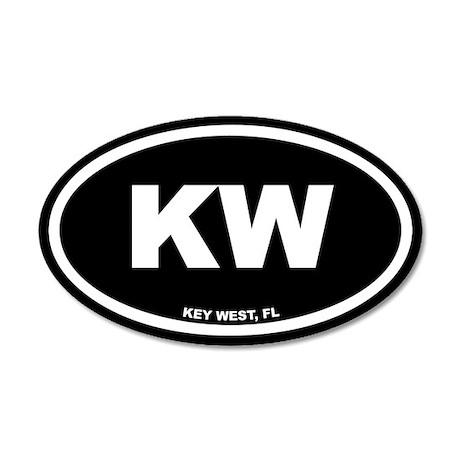 KW Key West, FL Black Euro 20x12 Oval Wall Peel