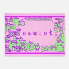 Sewist fabric font sewing border orchid lilac mint