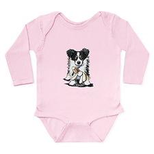 Tri-Color Border Collie Long Sleeve Infant Bodysui
