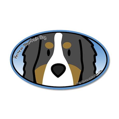 Anime Bernese Mountain Dog 20x12 Oval Wall Peel