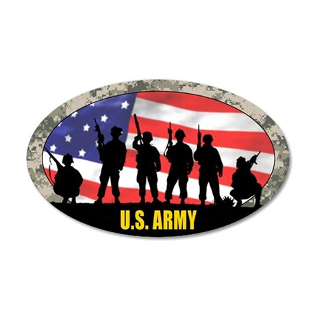 ARMY 20x12 Oval Wall Peel