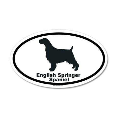 ENGLISH SPRINGER SPANIEL 35x21 Oval Wall Peel