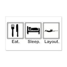 Eat, Sleep, Layout 20x12 Wall Peel