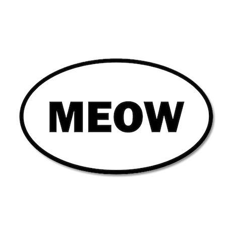 Meow 20x12 Oval Wall Peel