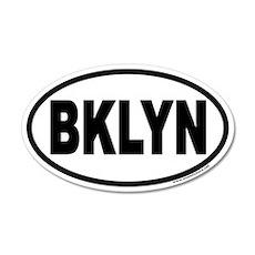 Brooklyn, New York BKLYN Euro 20x12 Oval Wall Peel