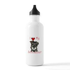 """I """"heart"""" my Schnauzer Water Bottle"""