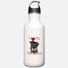 "I ""heart"" my Schnauzer Water Bottle"