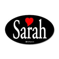 I Love Sarah 20x12 Oval Wall Peel