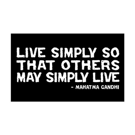 Quote - Gandhi - Live Simply 35x21 Wall Peel