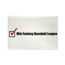 Win Fantasy Baseball League Rectangle Magnet