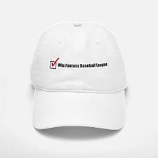 Win Fantasy Baseball League Baseball Baseball Cap