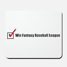 Win Fantasy Baseball League Mousepad