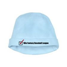 Win Fantasy Baseball League baby hat