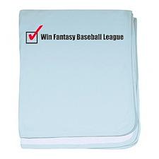 Win Fantasy Baseball League baby blanket