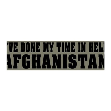 Afghanistan-Hell 36x11 Wall Peel