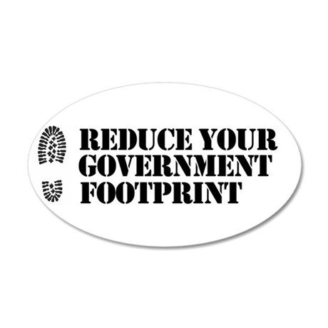 Reduce your government footpr 35x21 Oval Wall Peel