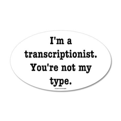 I'm a transcriptionist... 35x21 Oval Wall Peel