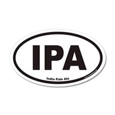 IPA India Pale Ale 35x21 Oval Wall Peel