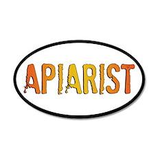 Apiarist Stamp 20x12 Oval Wall Peel