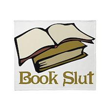 Book Slut Throw Blanket